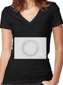 Spirograph 5 Women's Fitted V-Neck T-Shirt