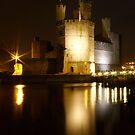 Castell Caernarfon At Night by Andrew S
