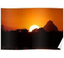 Sunset over Golden Beach,Caloundra Queensland. Poster