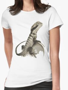 Australian Water Dragon Womens Fitted T-Shirt