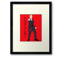12th Doctor Peter Capaldi minimalist Framed Print