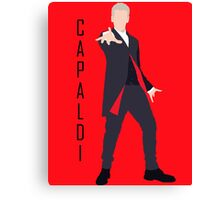 12th Doctor Peter Capaldi minimalist Canvas Print