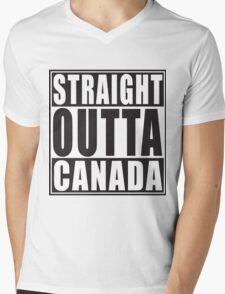 Straight Outta Canada Mens V-Neck T-Shirt