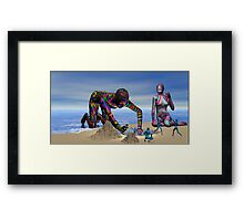 Discoverying the Aqua People Framed Print