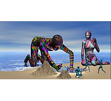 Discoverying the Aqua People Photographic Print