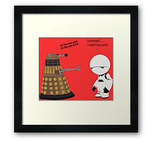 Dalek and Marvin mashup Framed Print