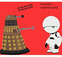 Dalek and Marvin mashup Photographic Print