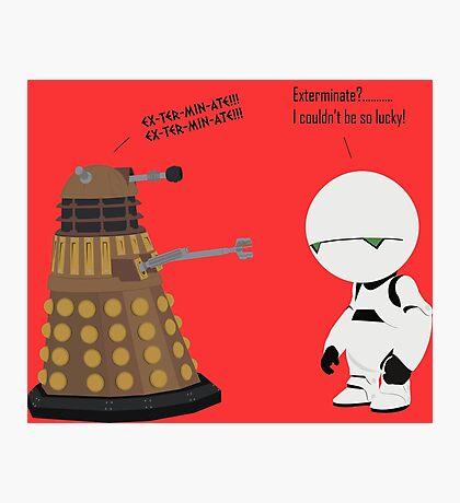 Dalek and Marvin mashup Photographic Print