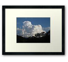 Cumulus! - Late Afternoon Cloud Framed Print