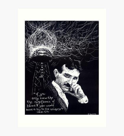"""""""Nikola Tesla""""- 2010 Art Print"""