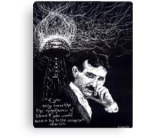 """""""Nikola Tesla""""- 2010 Canvas Print"""