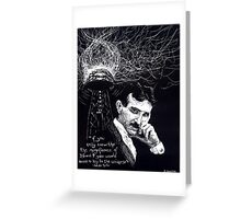 """Nikola Tesla""- 2010 Greeting Card"