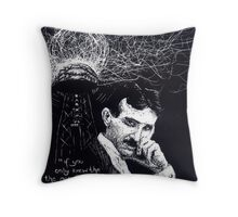 """Nikola Tesla""- 2010 Throw Pillow"