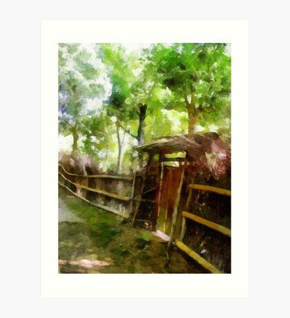 Rustic Gate Art Print