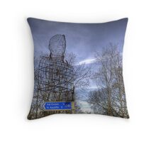 Head In The Sky Throw Pillow