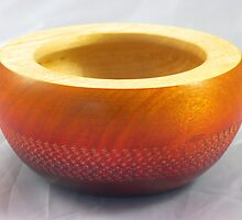 Small coloured and textured wooden bowl, Perth, WA by BigAndRed