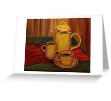 Coffee and Milk Greeting Card