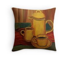 Coffee and Milk Throw Pillow