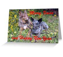Chauncey & Annie Merry Xmas Greeting Card