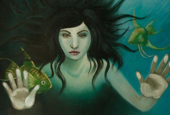 Woman in the water by Adara Rosalie
