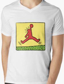 Air Haring Mens V-Neck T-Shirt