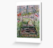 """Me I'm just a lawnmower - you can tell me by the way I walk"" Greeting Card"