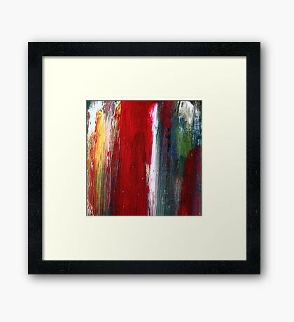 Brush Out Framed Print