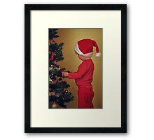 Santa's Helper Framed Print