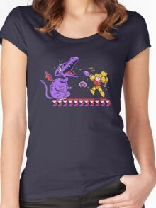 Pew Pew // Metroid Women's Fitted Scoop T-Shirt