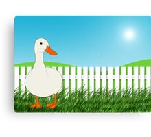 The Waiting Duck Canvas Print