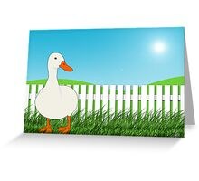 The Waiting Duck Greeting Card