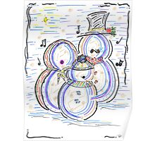 Let It Snow Man Poster