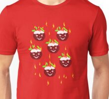 Happy Hot Christmas puddings   T/SHIRT  FRONT Unisex T-Shirt