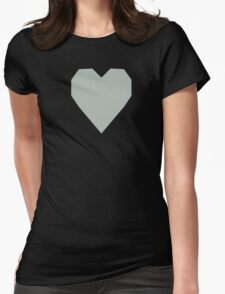 Ash Gray  Womens Fitted T-Shirt