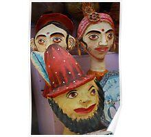 Shop Display, Jaiselmir, Rajasthan, India Poster