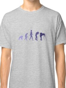 Purple Photographer Evolution Classic T-Shirt