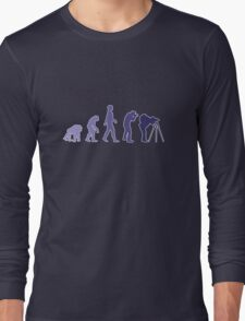 Purple Photographer Evolution Long Sleeve T-Shirt