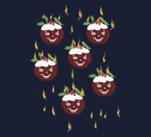 Hot Christmas Puddings T SHIRT/ART Kids Clothes