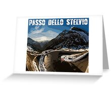 Passo Dello Stelvio Cycling Greeting Card