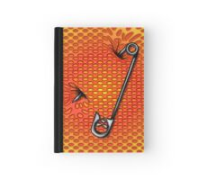 Sookie Skull Safety Pin Orange and Yellow Hardcover Journal
