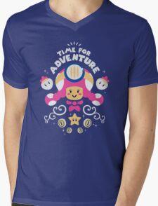 Time for Adventure Toadette Mens V-Neck T-Shirt