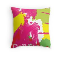 Doll Face 2 Throw Pillow
