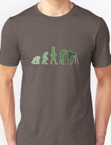 Green Photographer Evolution T-Shirt