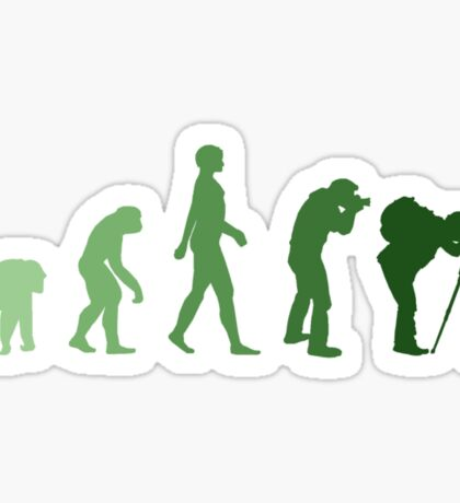Green Photographer Evolution Sticker