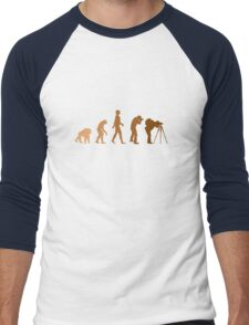 Earth Photographer Evolution Men's Baseball ¾ T-Shirt