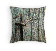 Remembered What the World Forgot (Nature Made Cross on old Cemetery) Throw Pillow