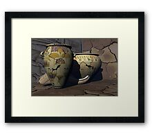 Ancient Egyptian Pottery 2 Framed Print