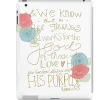 Romans 8:28 - color iPad Case/Skin