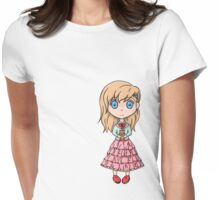 Kitty Girl Womens Fitted T-Shirt