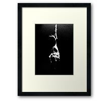 hanging chicken Framed Print